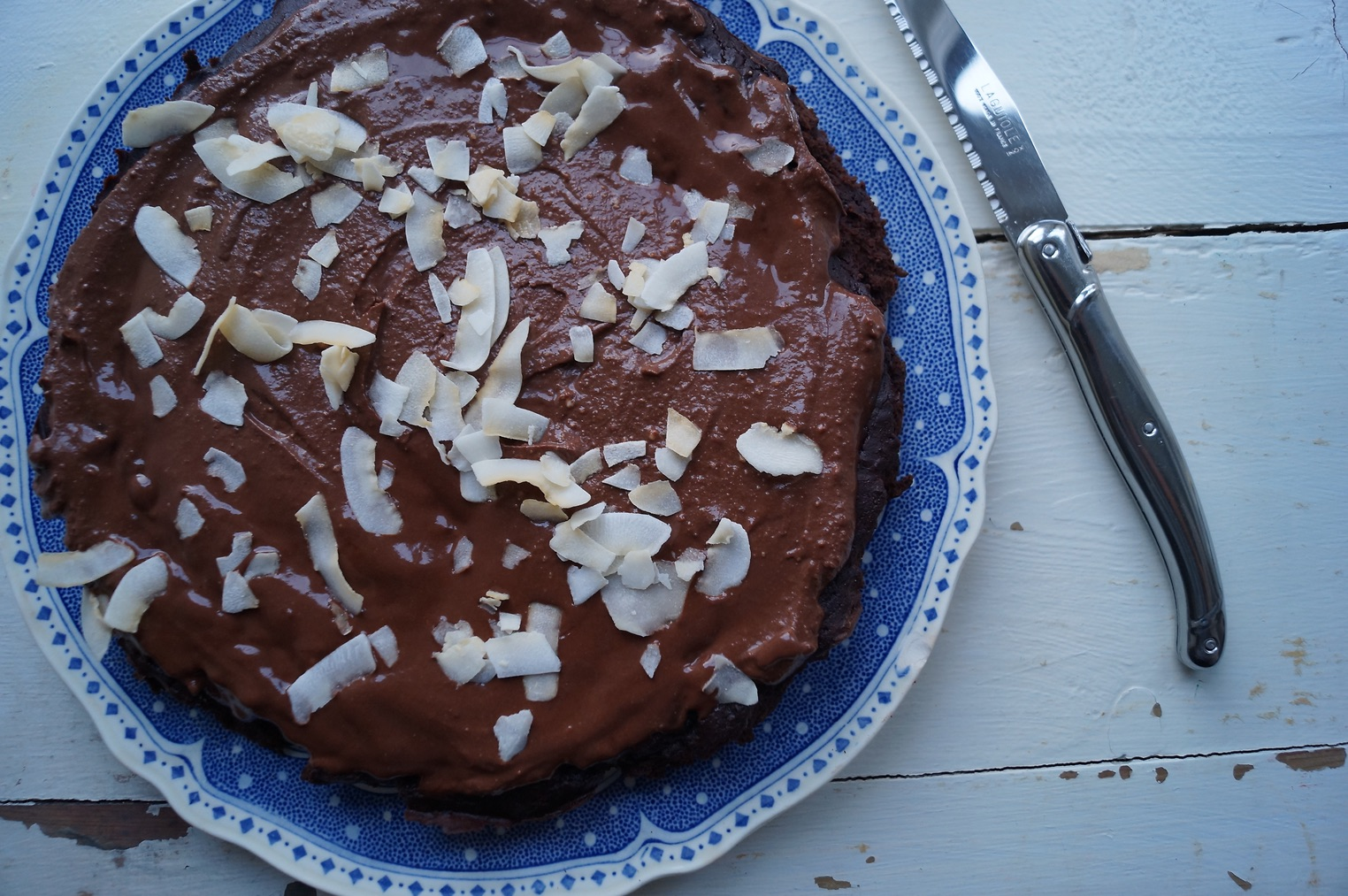 Bønnekage med chokolade og kaffe
