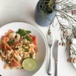 Asiatisk inspireret nudelsalat med kylling