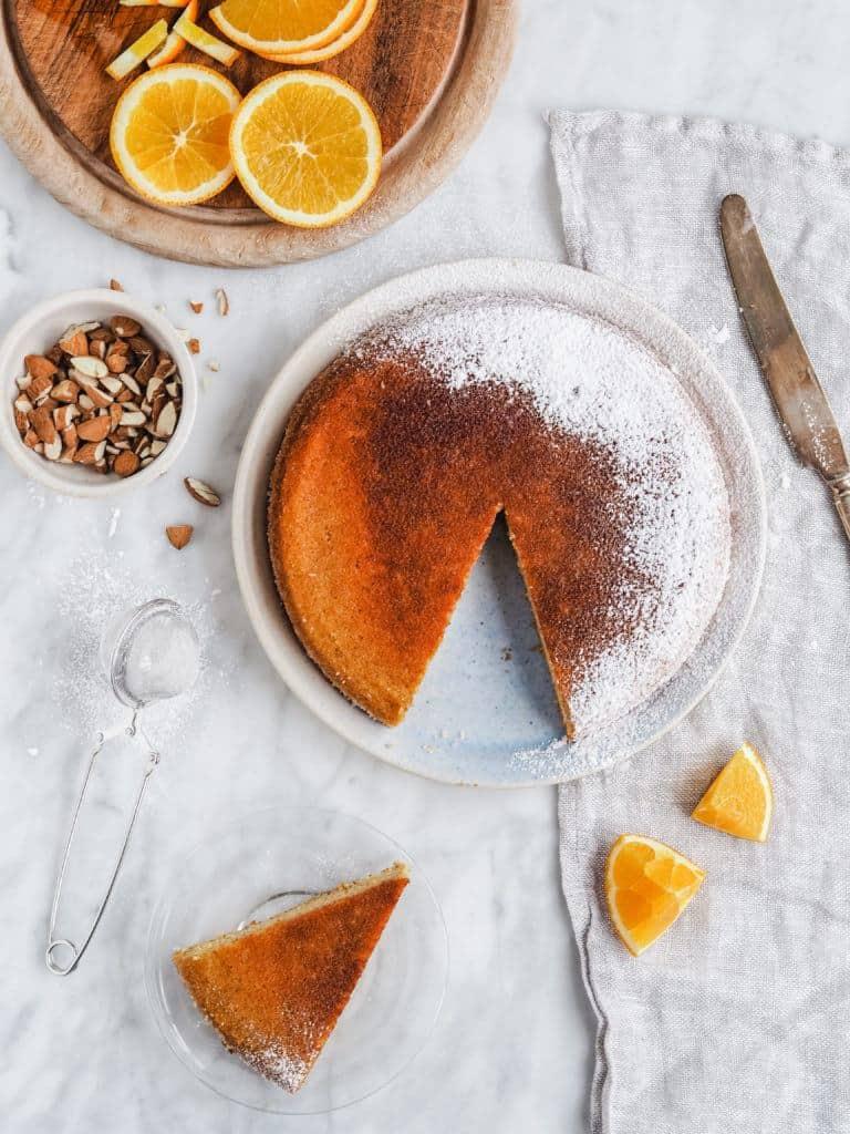 Marokkansk appelsinkage med mandelmel
