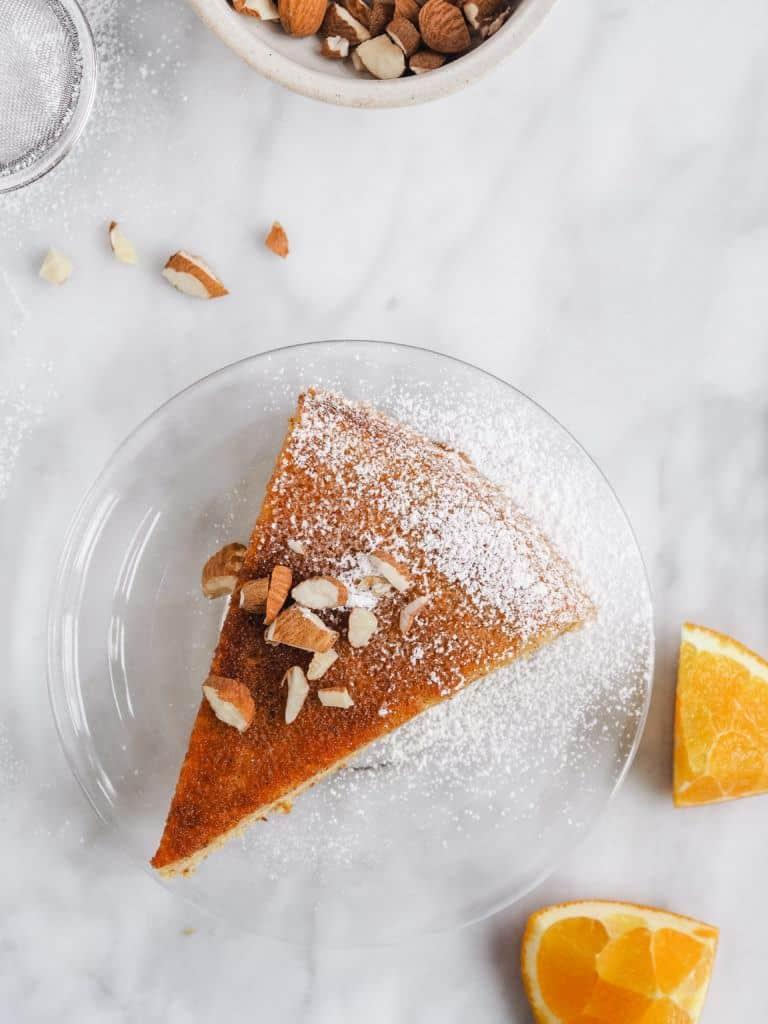 Marokkansk appelsinkage med mandler