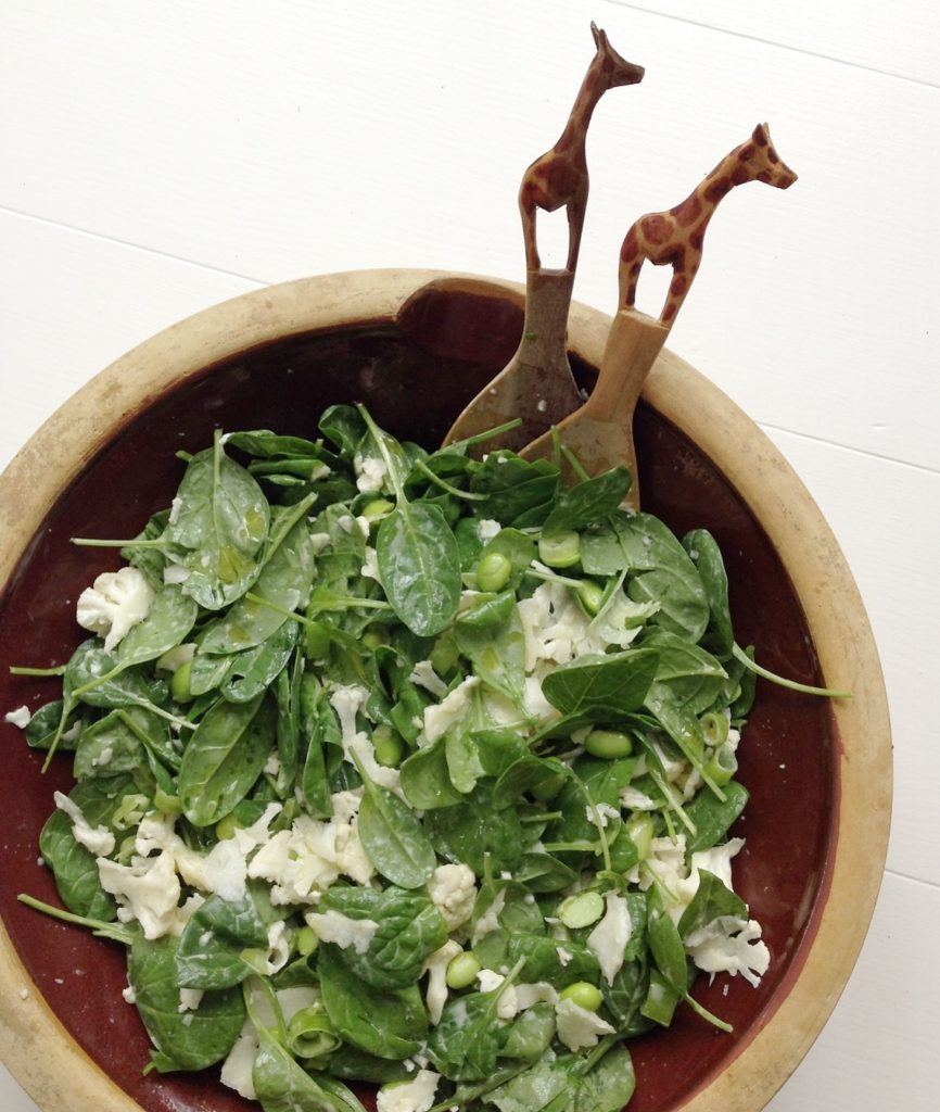Spinatsalat med lækker dressing