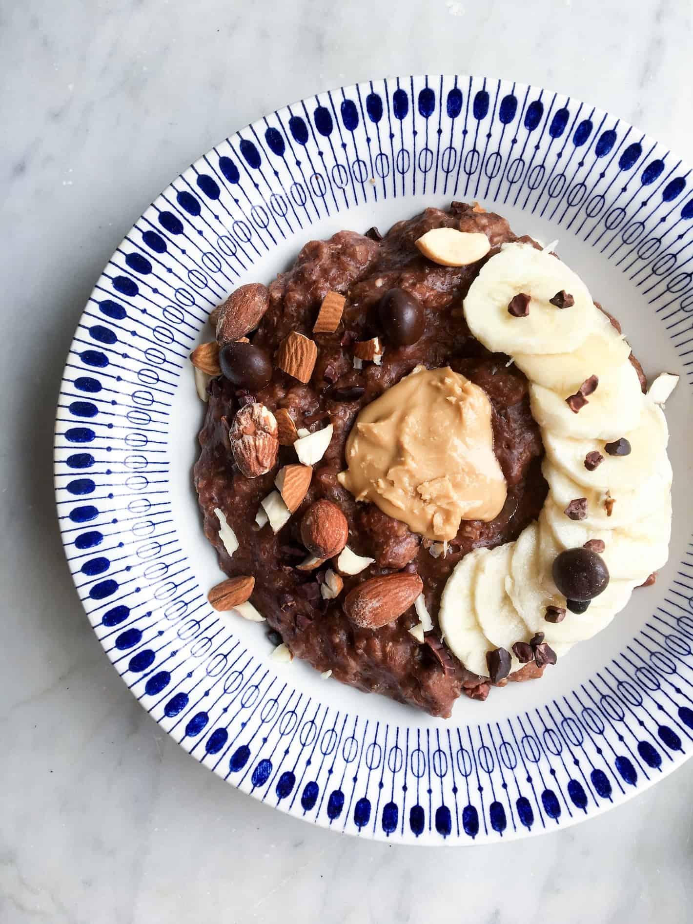 Chokoladegrød med chokolade og kakao