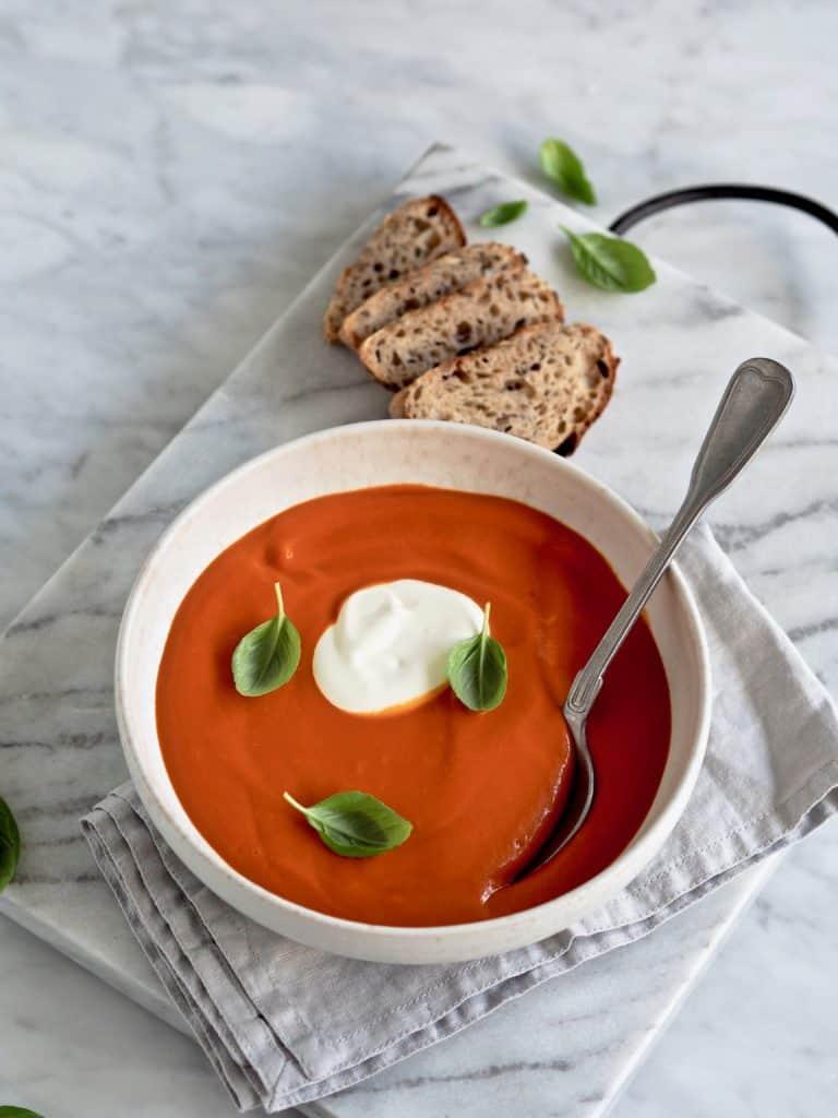 Klassisk tomatsuppe med fløde
