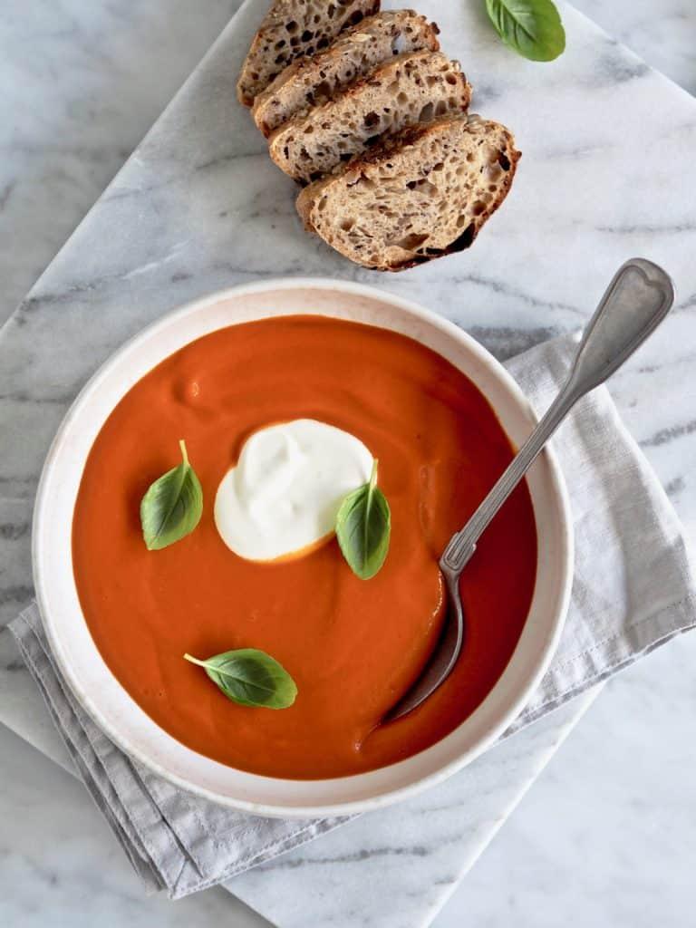 Opskrift på hjemmelavet tomatsuppe