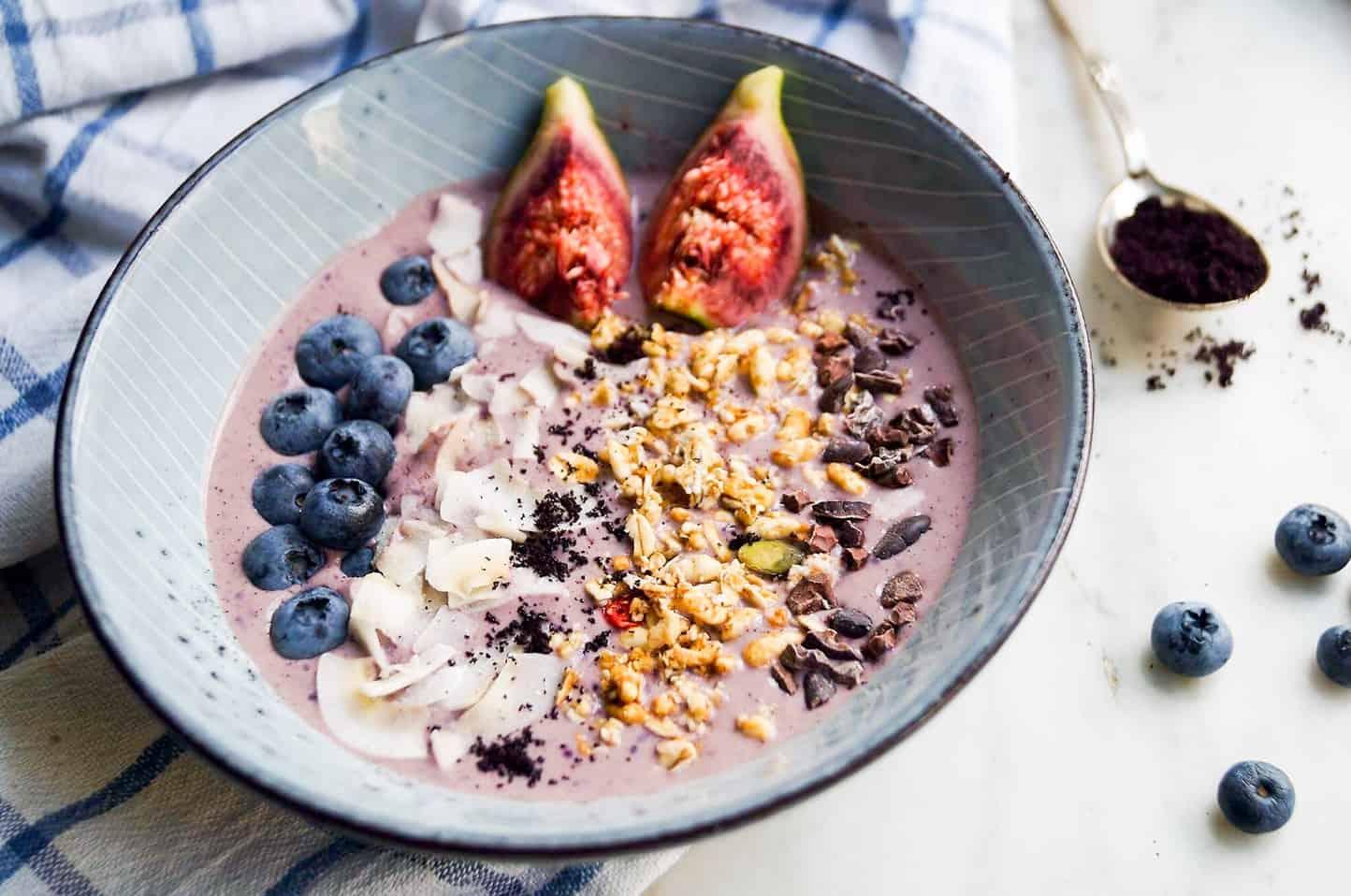 Acai smoothie med blåbær