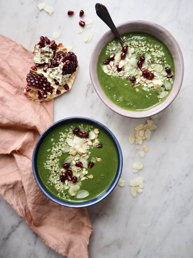 Grøntsagssmoothie med ingefær og spinat