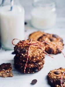 Sunde cookies med boghvede og chokolade - glutenfrie