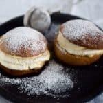 Semlor - svenske fastelavnsboller med citroncreme