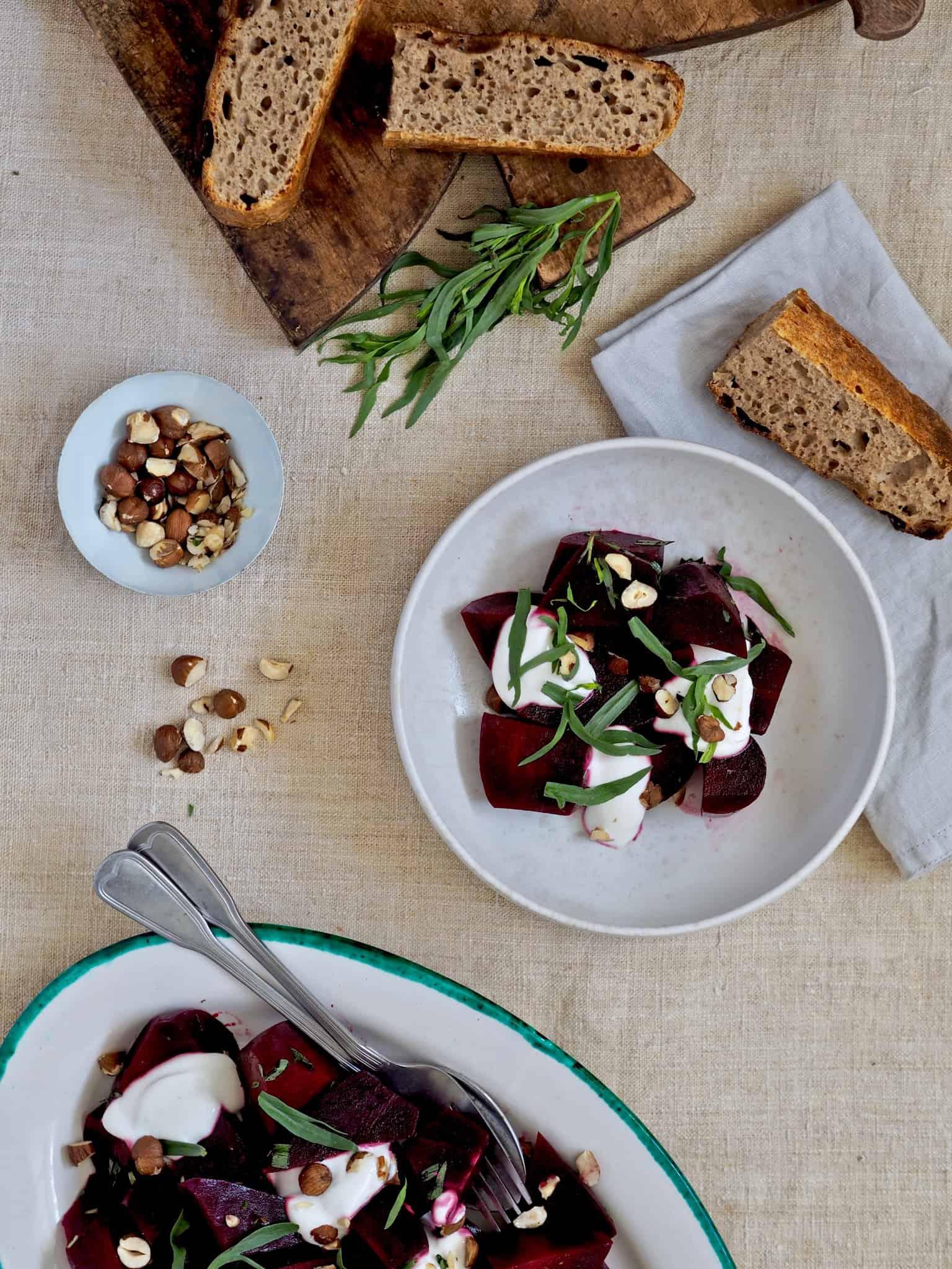 Salat med rødbede
