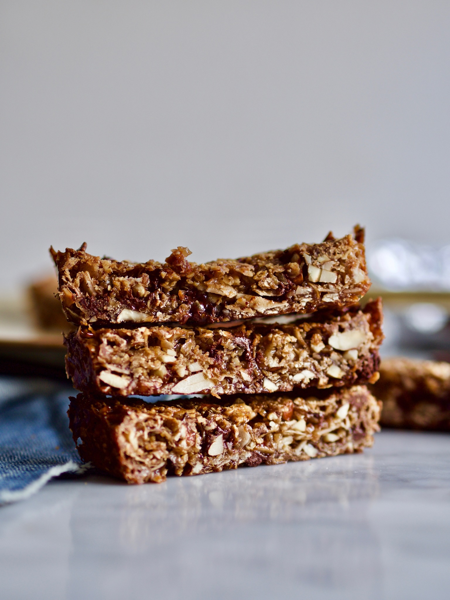Myslibar med chokolade og nødder