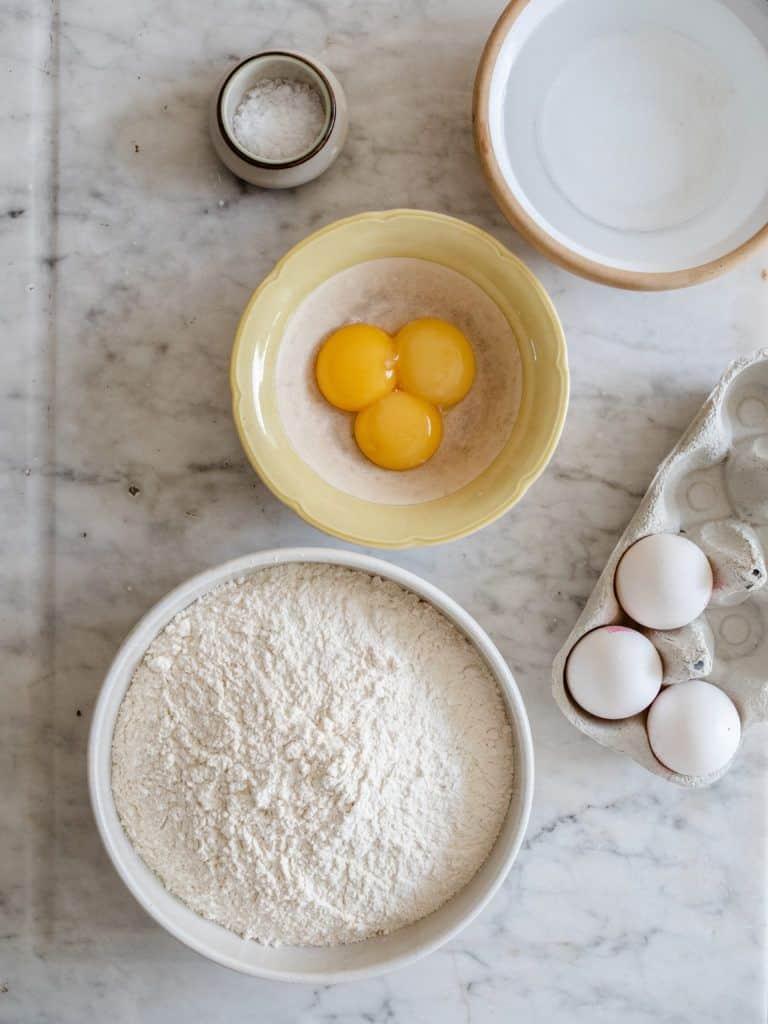 Ingredienser til pasta