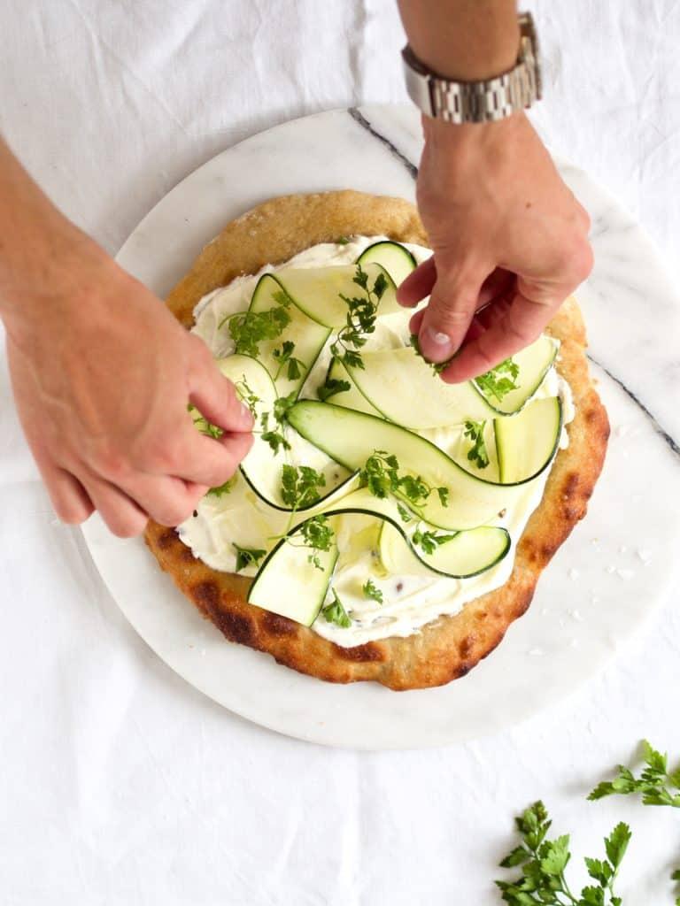 Pizza med squash