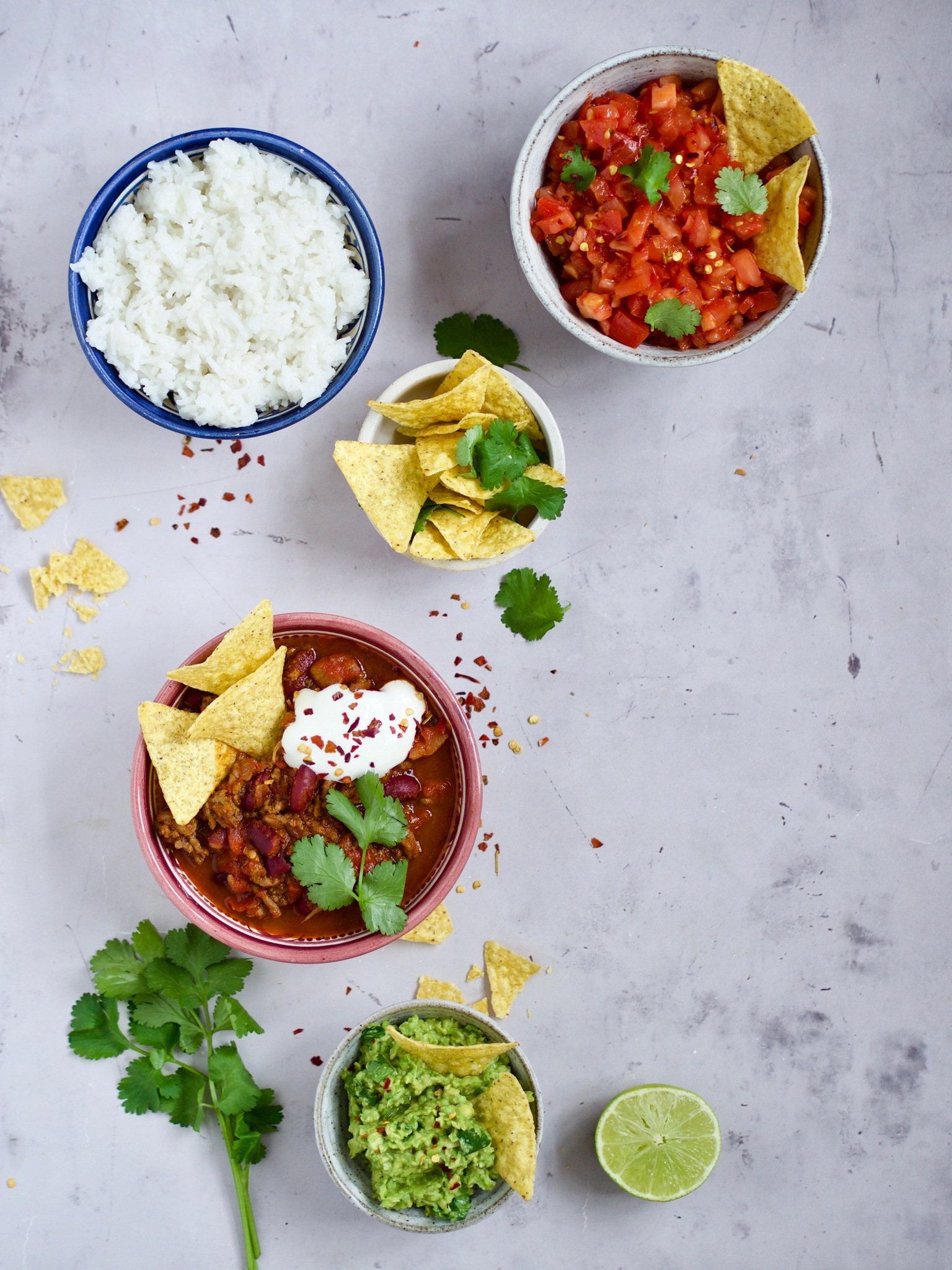 Chili con carne tilbehør