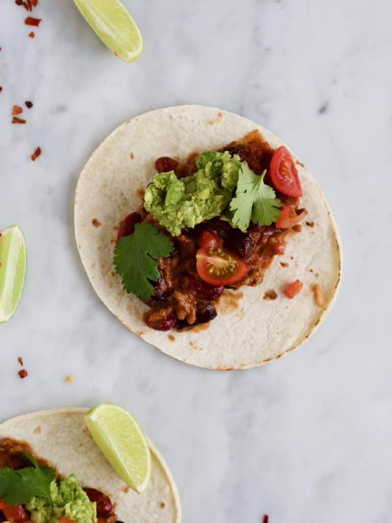 Tacos med oksekød