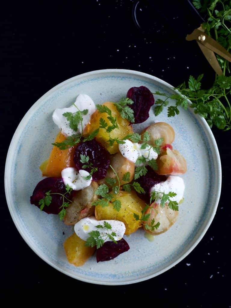 Salat med gule beder