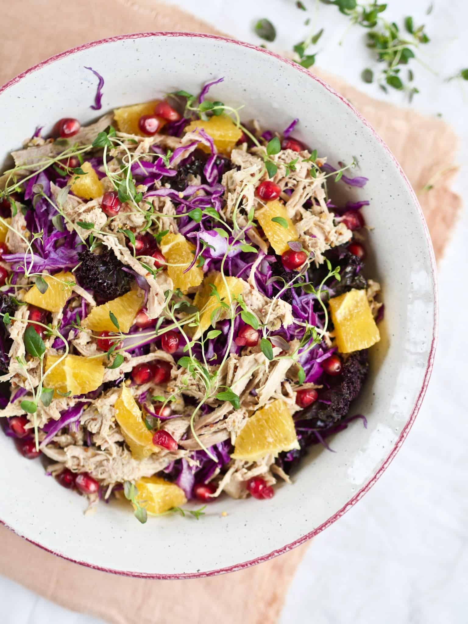 Opskrift på salat med and