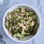 Salat med broccoli og brune ris