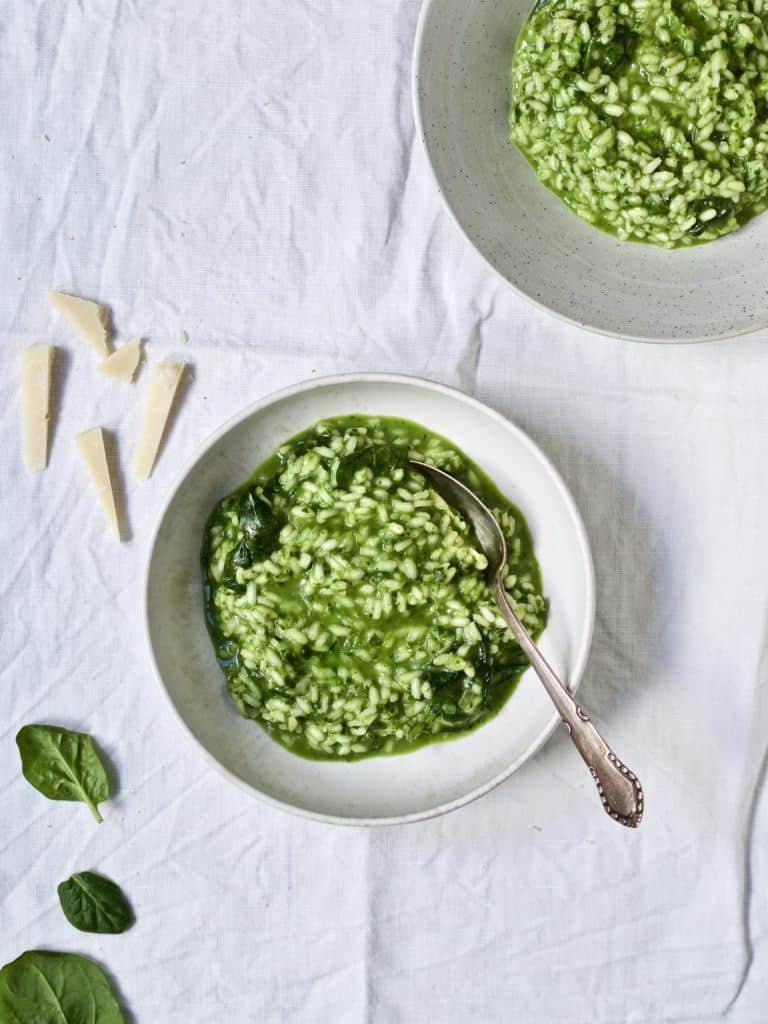 Opskrift på Risotto med spinat og ost
