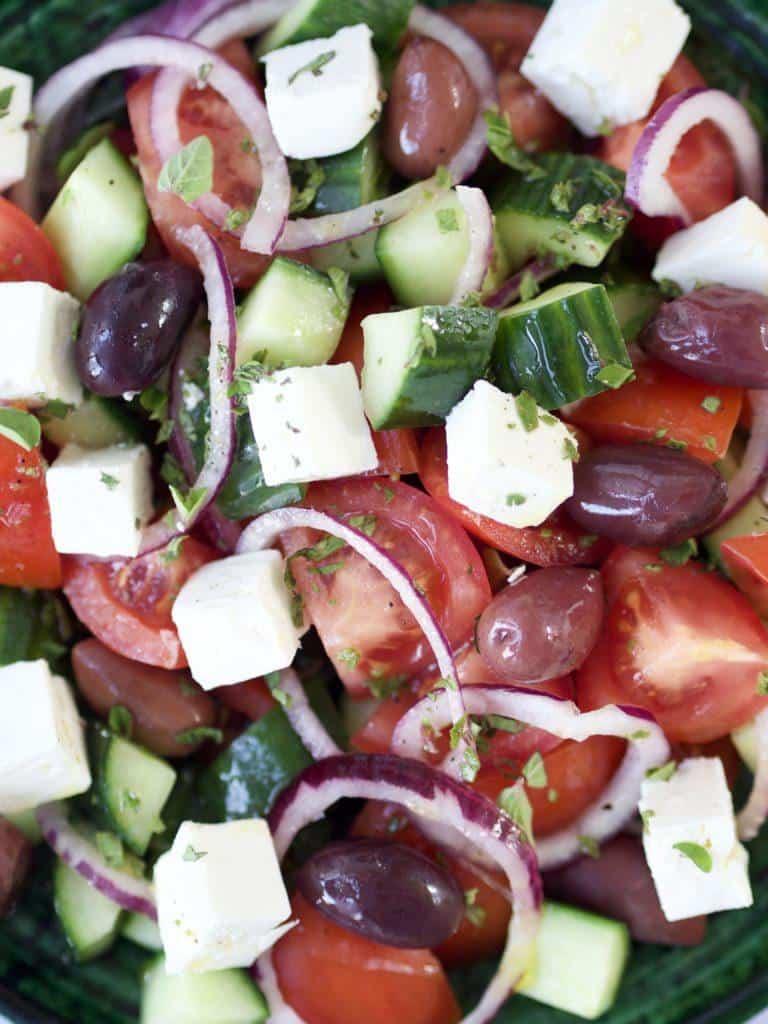 Græsk salat ingredienser