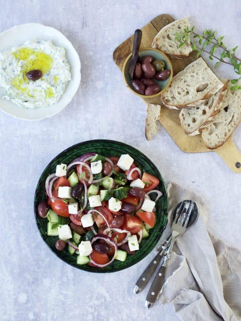 Tilbehør til græsk salat