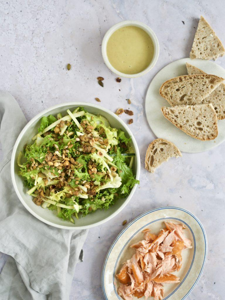 Grøn salat til laks