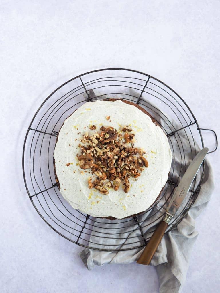 gulerodskage med ostecreme