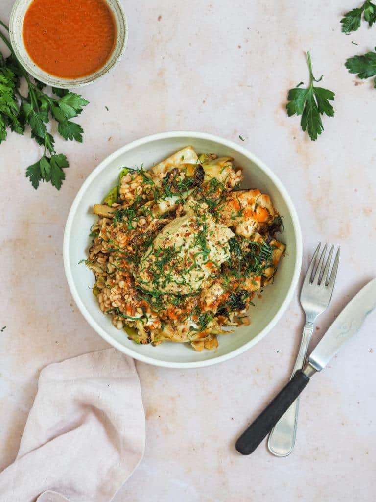 perlespelt salat opskrift