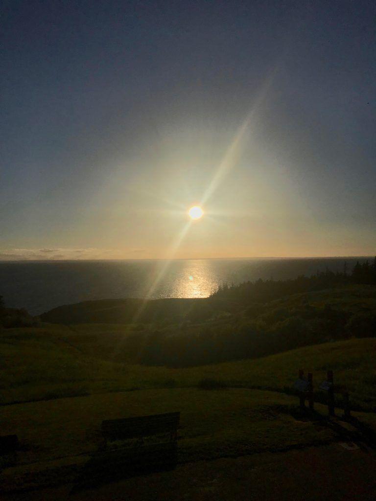 Solnedgang ved Ballebjerg