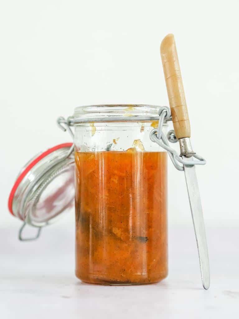 Appelsinmarmelade med ingefær og vanilje