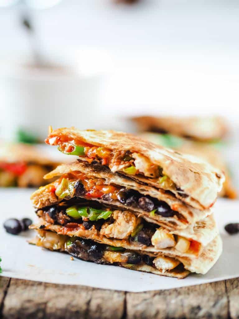 Quesadillas med kylling og bønner