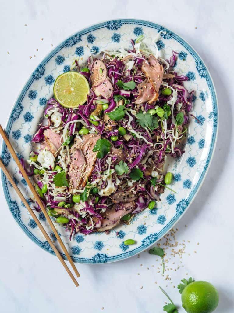 Thai salat med soya og sesam