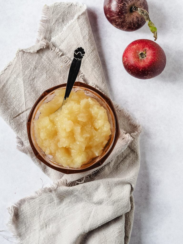 æblemos med vanilje til æblekage