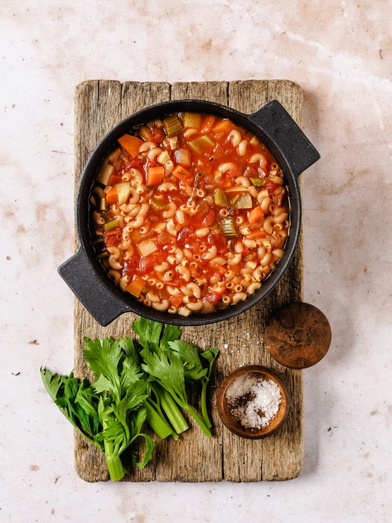 hjemmelavet minestronesuppe