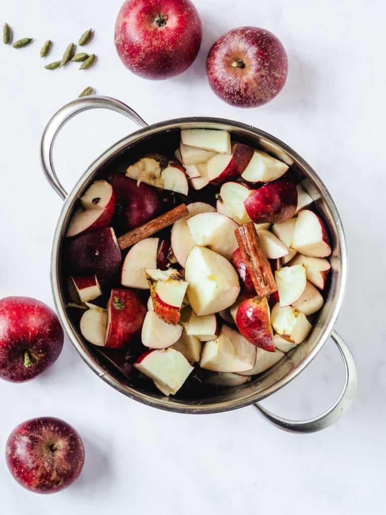 ingredienser til æblesmør
