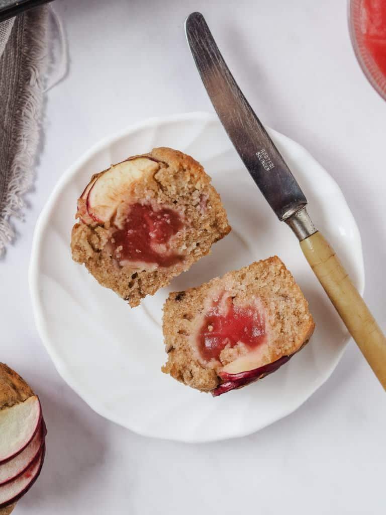 Æblemuffins med æblesmør