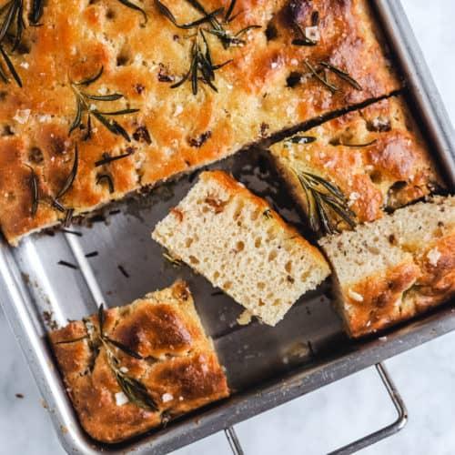 Foccacia brød med rosmarin