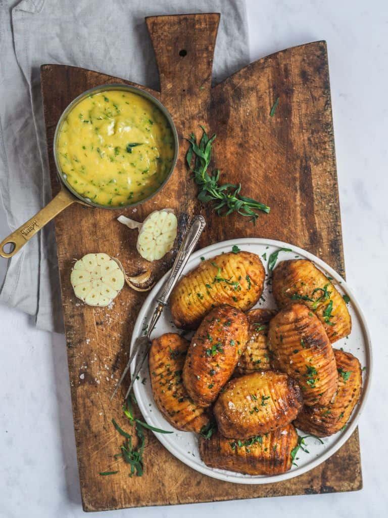 Opskrift på hasselback kartofler med skræl