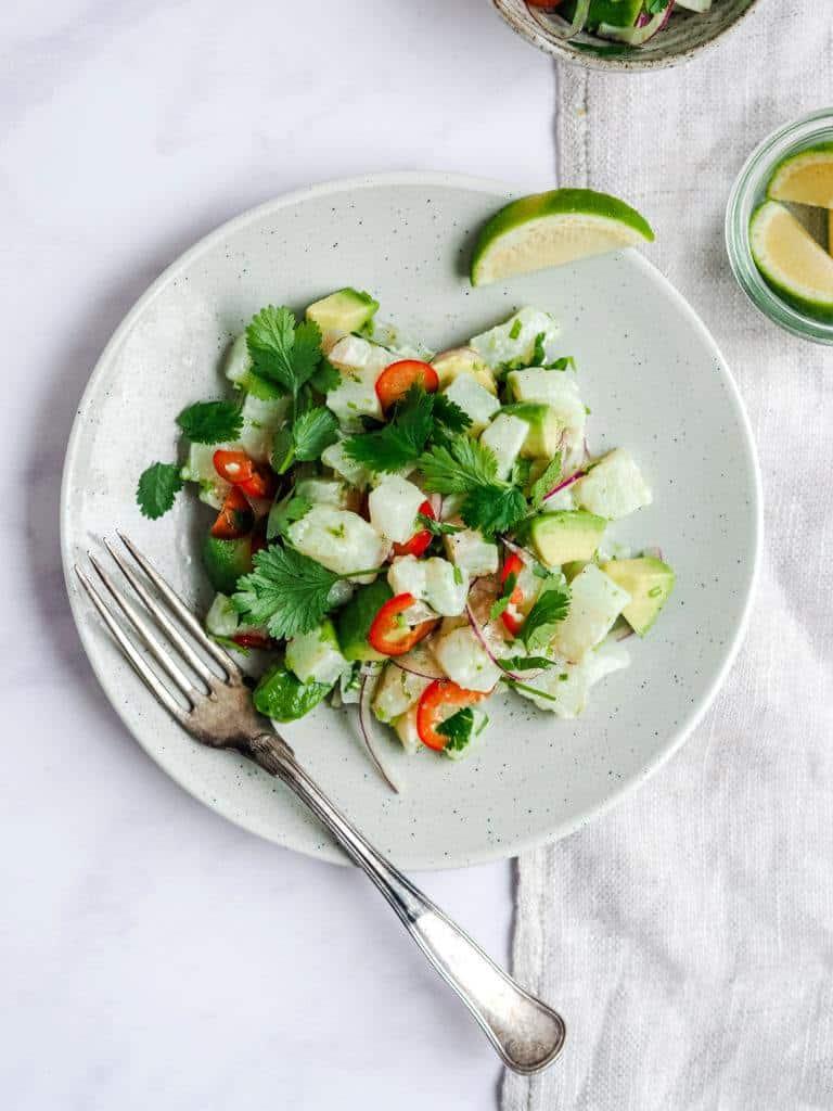 ceviche med torsk og avocado