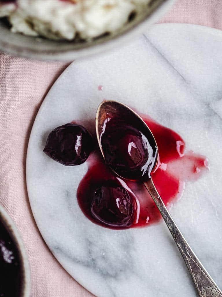 kirsebærsauce med Amarena kirsebær