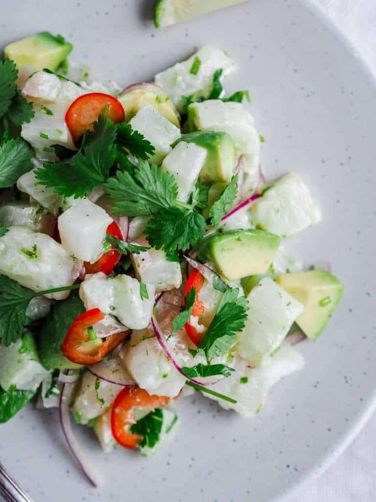 opskrift på Ceviche med torsk