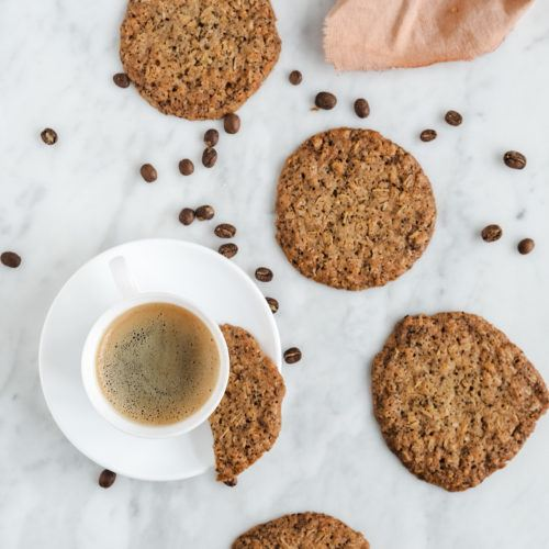 Kaffe cookies - sprøde cookies med kaffegrums