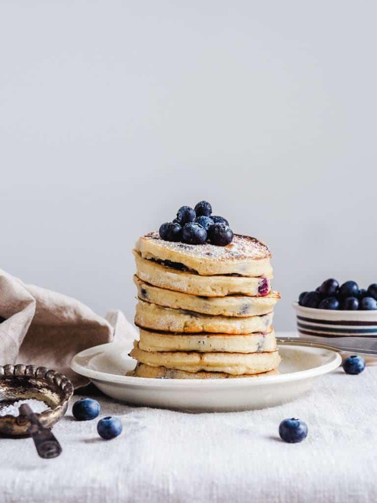 blåbær pandekager til brunch