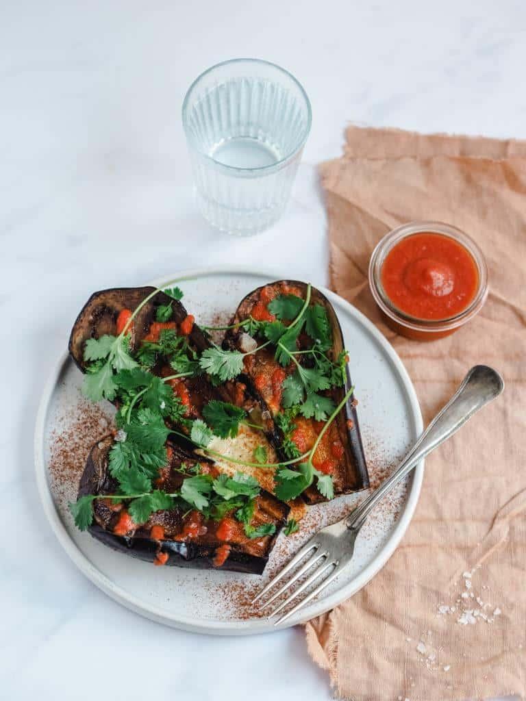 grillede auberginer opskrift