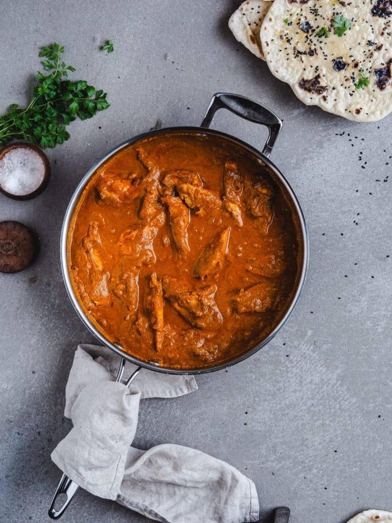 Chicken tikka masala med fløde