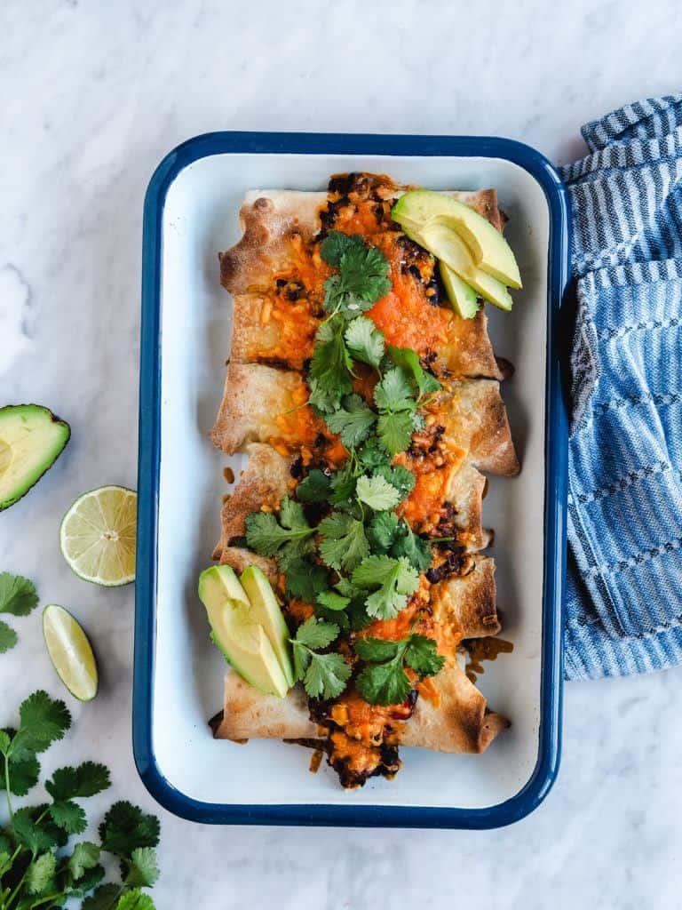 Enchiladas med oksekød opskrift