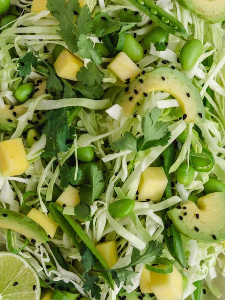 Salat med mango og spidskål