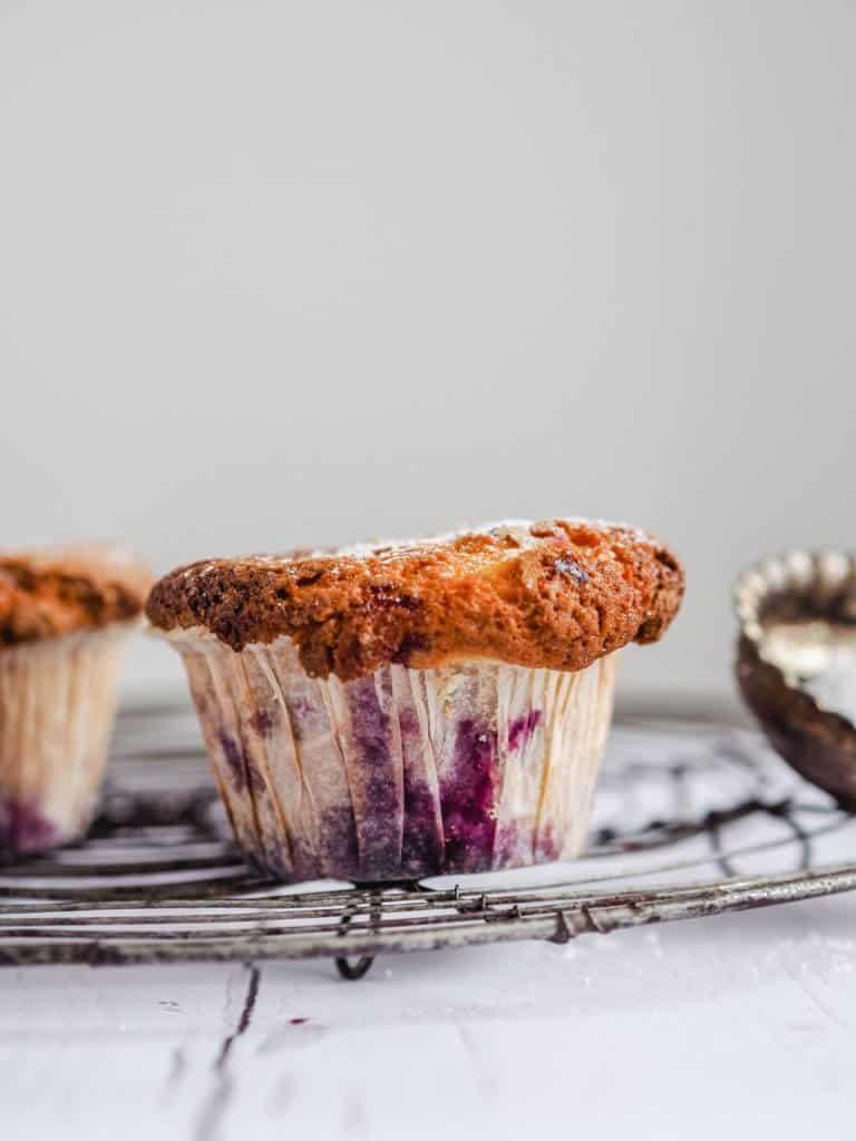 Svampede og lækre brombærmuffins