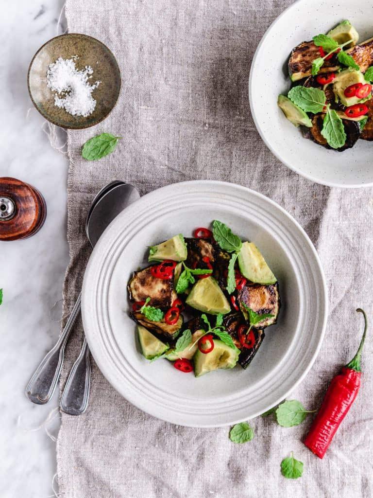 Opskrift på Grillet squash salat