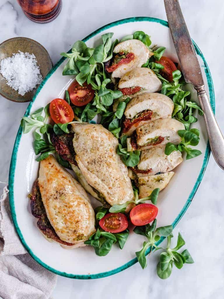fyldte kyllingebryster