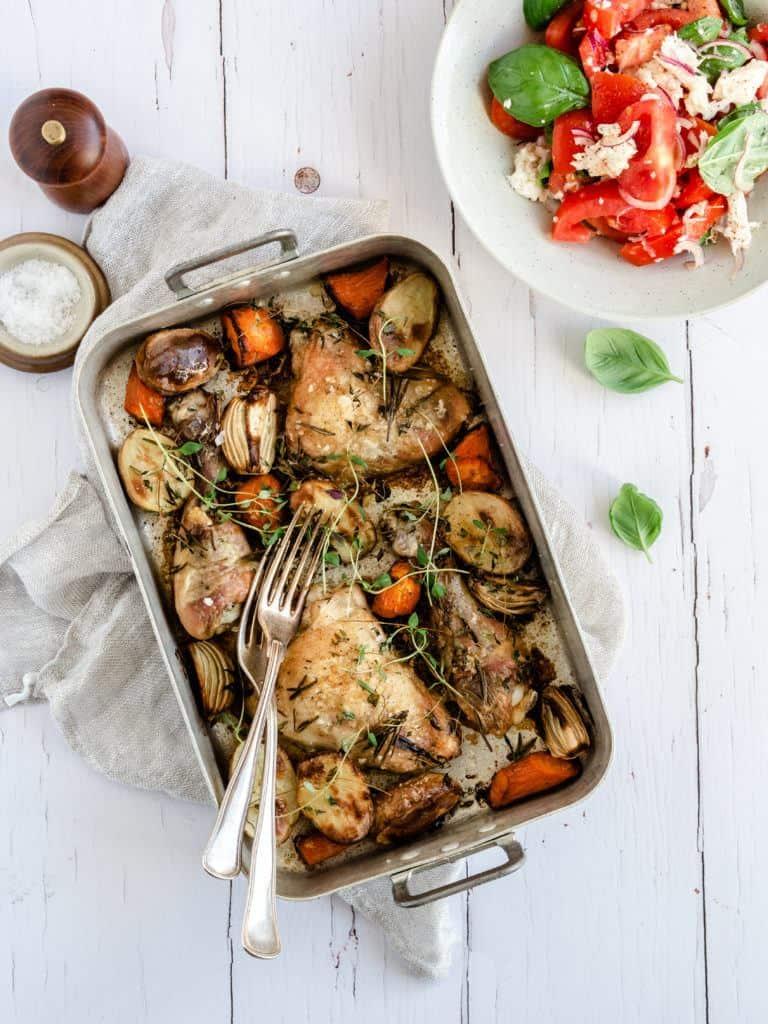 Hele kyllingelår i ovn